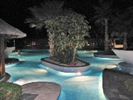 Our swimming pools at night