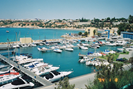 The local marina at Cabo Roig with boats for hire