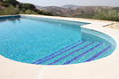 Large 8x4 pool in the olive grove