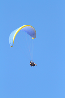 We regularly see paragliders flying over the property