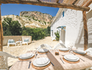 Dining on the terrace at Cortijo Azul