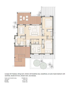 The apartment's floor plan