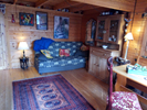The cosy interior of chalet Casita de Montana...