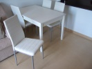 White table and chars, unused for sale
