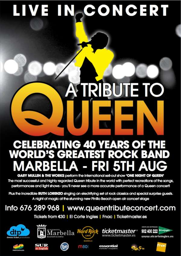 Queen tribute band Marbella concert
