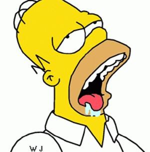 Home Simpson drooling