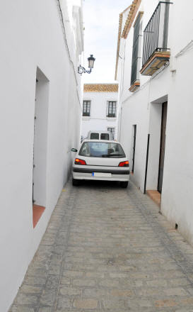 Driving in Spanish village