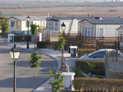 Mobile home park in Spain