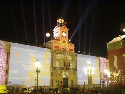 Madrid Puerta del Sol at New Year