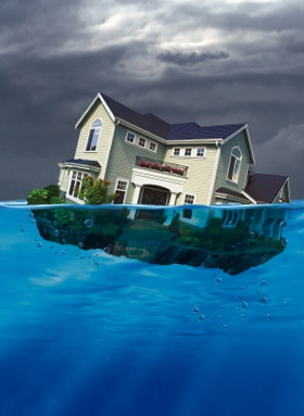 Sinking house