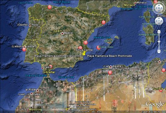 Google Earth Map Of Spain.Google Earth