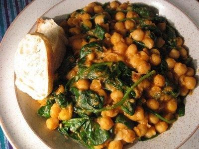 Chickpeas with Spinach (Garbanzos con Espinacas) comes from Sevilla ...