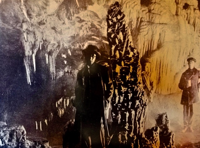 Engineer and geologist Miguel Such visiting cave in the 1920's. Photo from Ardales Information Centre Photo Display