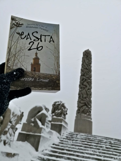 C26 by the Monolith in the Vigeland Park in Oslo with Oskar