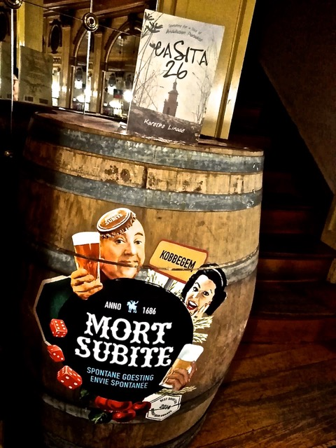 C26 goes drinking at Mort Subite (sudden death) in Brussels with Sheena