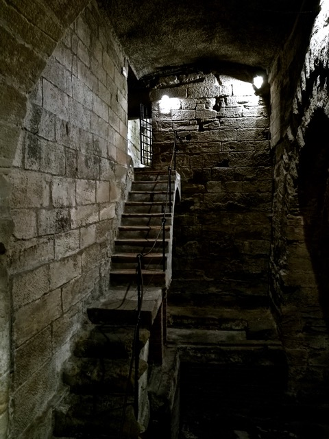 Roman prison and river dock in the basement of Lérida's city hall. Photo © Karethe Linaae