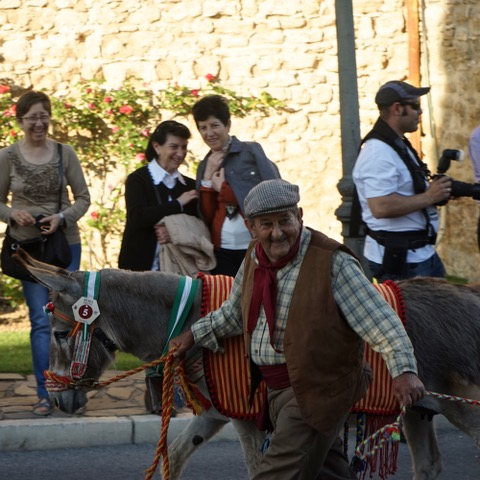 Paquirri with his donkey Paquirra in the Ronda Romántica procession. Photo © snobb.net