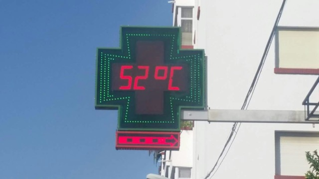 Temperature on Avenida Malaga in Ronda in July. Photo ©  Rafael León
